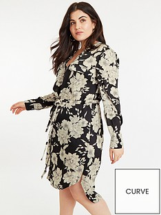 oasis-curve-bold-bloom-shirt-dress-multi-black