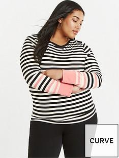 oasis-curve-curve-bon-bon-stripe-jersey-top-blackwhite