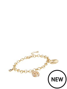 michelle-keegan-shell-bracelet-gold