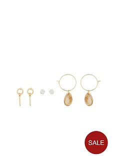 michelle-keegan-multipack-shell-earrings-goldnbsp