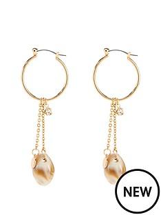michelle-keegan-shell-chain-earrings