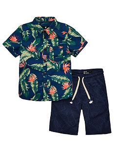 mini-v-by-very-boys-hawaiian-shirt-amp-palm-short-set-multi