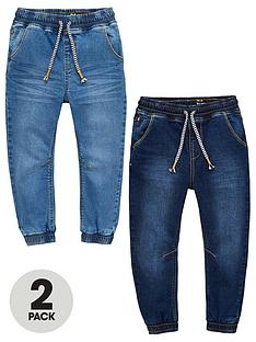 v-by-very-boys-2-pack-pull-on-carrot-fit-jeans-blue