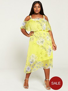 v-by-very-curve-cold-shoulder-asymmetric-floral-dress--nbspprint