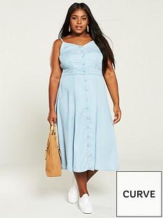 v-by-very-curve-midi-dress-light-blue