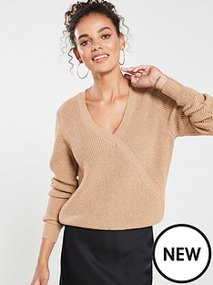 119478eb2bb2 V by Very Mock Wrap Over Jumper - Camel