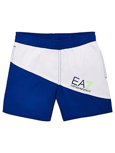 039169e451 EA7 Emporio Armani Boys Colour Block Swim Shorts - Blue/White