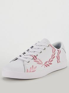 fred-perry-fred-perry-lottie-printed-leather-trainer
