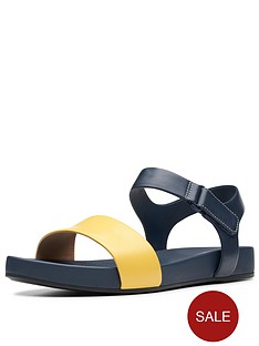 clarks-bright-pacey-flat-sandals-yellow