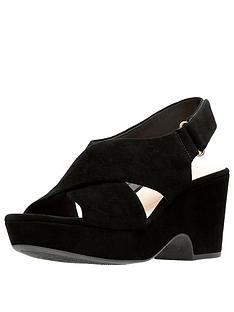 clarks-maritsa-lara-suede-wedge-sandals-black
