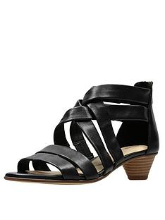 590a652d9376 Clarks Mena Silk Sandals - Black