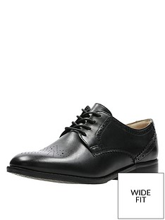 b178de815b9 Clarks Netley Rose Wide Fit Brogues - Black