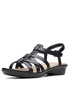 1a130467a Clarks Loomis Katey Sandals - Black