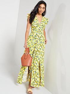 v-by-very-linen-printed-button-through-maxi-dress