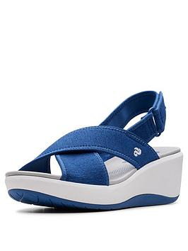 f3b7267ff028 Clarks Cloudsteppers Step Cali Cove Wedge Sandals - Blue ...