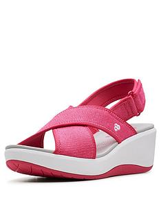 ed81cf35049c76 Clarks Cloudsteppers Step Cali Cove Wedge Sandals - Pink