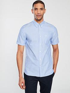 fred-perry-short-sleeved-oxford-shirt-light-smoke