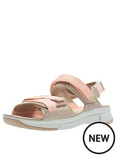 69c74f85375 Clarks Tri Walk Flat Sandals - Light Pink