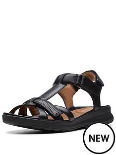 88d23c6cfb8 Clarks Clarks Unstructured Un Adorn Vibe Wide Fit Flat Sandal