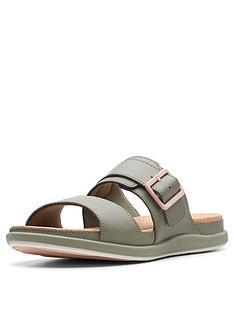 clarks-cloudsteppers-step-june-tide-flat-sandals-olive