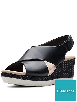 clarks-cammy-pearl-wedge-sandals-black