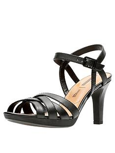 e01a0ade0 Clarks Adriel Wavy Heeled Sandals - Black