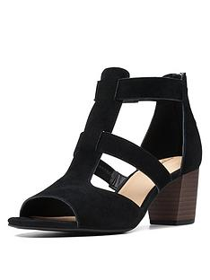 clarks-deloria-fae-heeled-suede-sandals-black