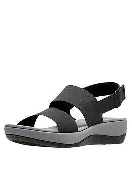 clarks-cloudsteppers-arla-jacory-wedge-sandals-black
