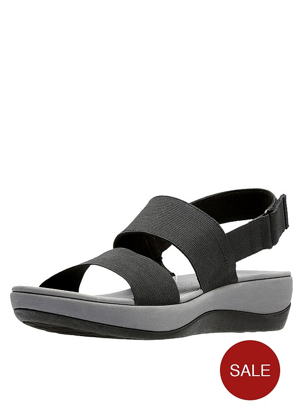 lace up in new lower prices how to find Cloudsteppers Arla Jacory Wedge Sandals - Black