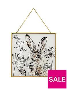 arthouse-hare-glass-hanging-print