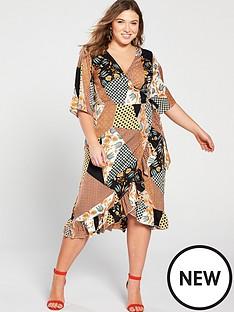 girls-on-film-curve-midi-wrap-dress-with-frill-front--nbspscarf-printnbsp
