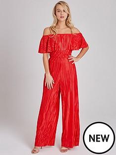 girls-on-film-plisse-wide-leg-jumpsuit-red