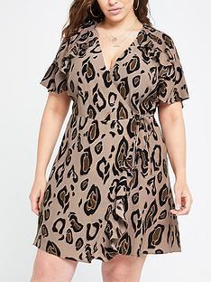 ri-plus-printed-tea-dress-brown