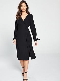 6de8c5f3446 River Island Dresses Free Delivery Littlewoods Ireland. Black Cold Shoulder  Bodycon Dress Dresses Women. Black Kimono Sleeve Wrap Midi Dress ...