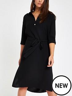 ri-petite-belted-dress-black