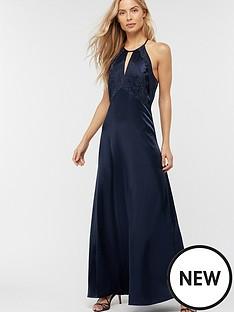 monsoon-rhea-satin-lace-maxi-dress-navy