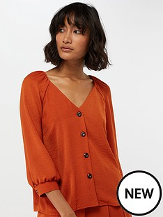 monsoon-amy-button-through-top-rust