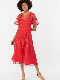 monsoon-racquelle-embroidered-mesh-midi-dress-red