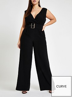 e28d7140137 RI Plus Belted Jumpsuit - Black