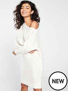 river-island-river-island-knit-asymetric-dress-cream