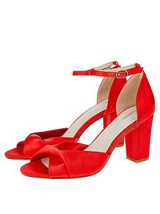 cac98c3ed13f Monsoon Tallulah Twist Vamp Block Sandals - Red