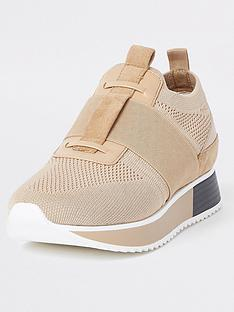 river-island-lace-up-trainer-beige