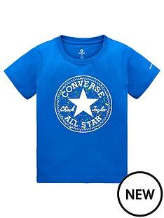 4842a57b742e Converse Boys Splatter Print Fill T-Shirt - Blue