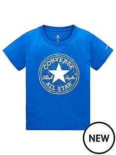 49ba4ef71555 Converse Boys Splatter Print Fill T-Shirt - Blue