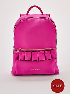 e5f716cf9 Ted Baker Rresse Ruffle Detail Zip Backpack - Pink