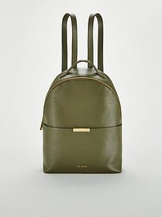 21881fee53ea Ted Baker Jenyy Faceted Bow Detail Leather Backpack - Green