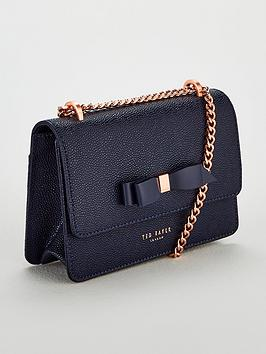 f34043afe9432 Ted Baker Jayllaa Bow Detail Chain Crossbody Bag - Navy ...