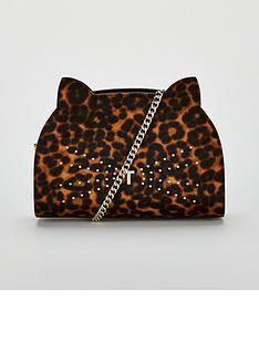 54a4c536e Ted Baker Indiiaa Printed Studded Feline Crossbody Bag – Leopard