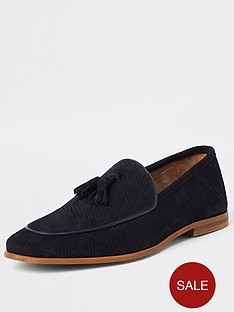 river-island-navy-suede-wasp-embroidery-loafers