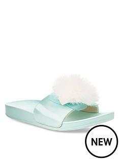 ugg-cactus-flower-pom-sliders-sea-blue